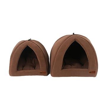 QIAOQI - Tienda de campaña para Perro, Gato, Gato, Gato, Cachorro, Cesta de cojín con Alfombra Plegable: Amazon.es: Productos para mascotas