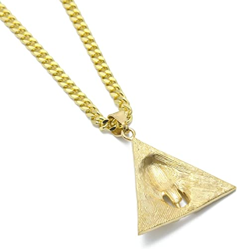 collier homme plaque or