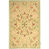 Cheap Safavieh Chelsea Collection HK330A Hand-Hooked Beige and Green Premium Wool Area Rug (3'9″ x 5'9″)