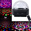"""1byone 8.6"""" Bluetooth Speaker Crystal Circular Super LED Dome Light, Digital Magic Ball Effect Lighting DMX512 LED Hemisphere Light LED Laser Reflection Projector Light, Apply Lighting For DJ Disco House Party Hotel Stage Office Camping Field Music Concert Etc, Lighting For Halloween And Christmas"""