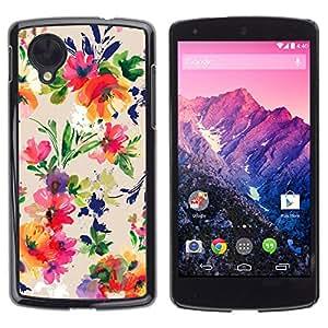 rígido protector delgado Shell Prima Delgada Casa Carcasa Funda Case Bandera Cover Armor para LG Google Nexus 5 D820 D821 /Vibrant Colors Fabric/ STRONG