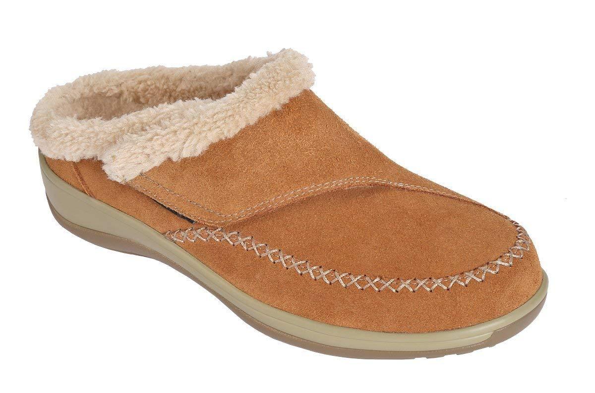 074301bea803 Orthofeet Charlotte Plantar Fasciitis Flat Feet Diabetic Orthopedic Leather  Women s Arch Support Slippers