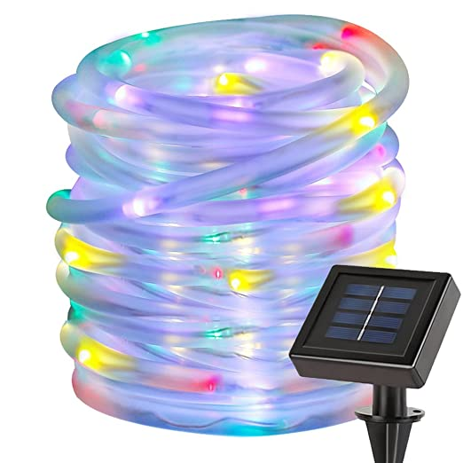 698a9320c40 LE Manguera Luces Solar 10m 100 LED Resistente al agua Multicolor ...