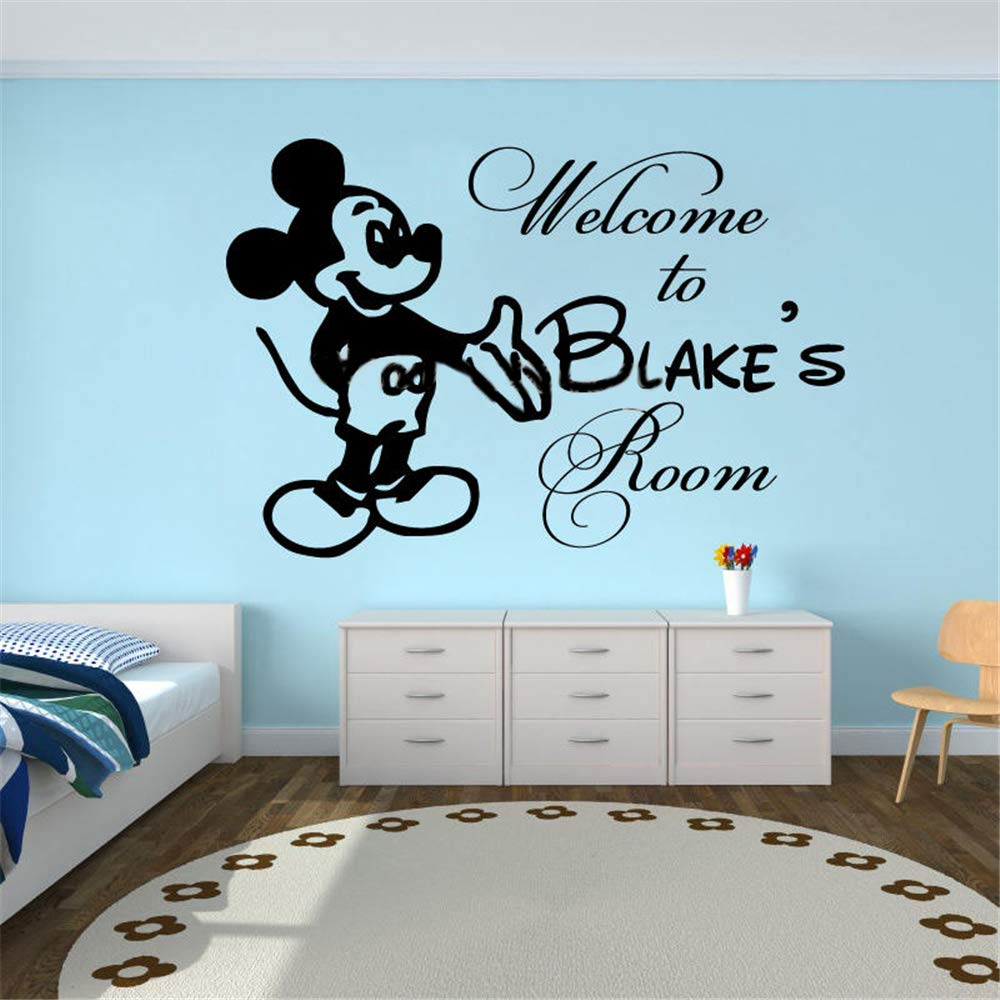 pegatina de pared 3d Mickey Minnie Mouse Wall Art Decal Sticker ...