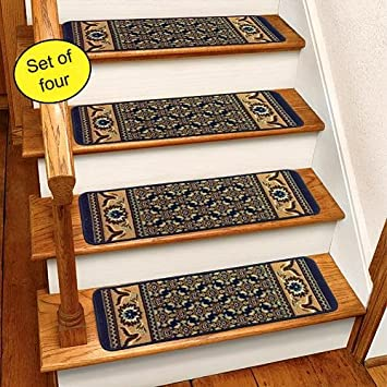 Blue Rug Carpet Stair Treads Set Of 4 CST260B