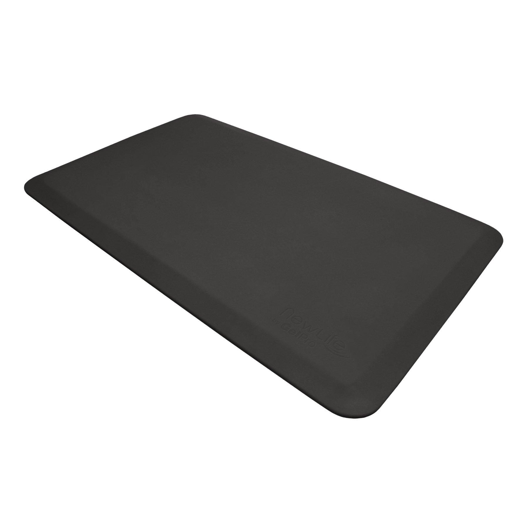 "NewLife by GelPro Anti Fatigue Mat: Eco-Pro Foam Anti-Fatigue Comfort Mat - Standing Desk Pad - Professional Floor Mats for Commercial & Industrial Work - 24"" x 36"" Non Slip Ergonomic Mat - Black"