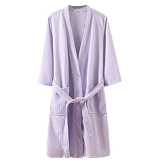 Free fisher Mens and Ladies Waffle Adults Shawl Collar Bathrobe ...