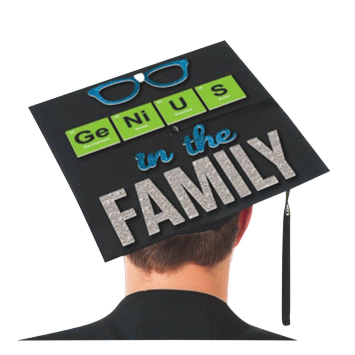 Amscan 392085 Graduation Cap Sticker One Size Multicolor
