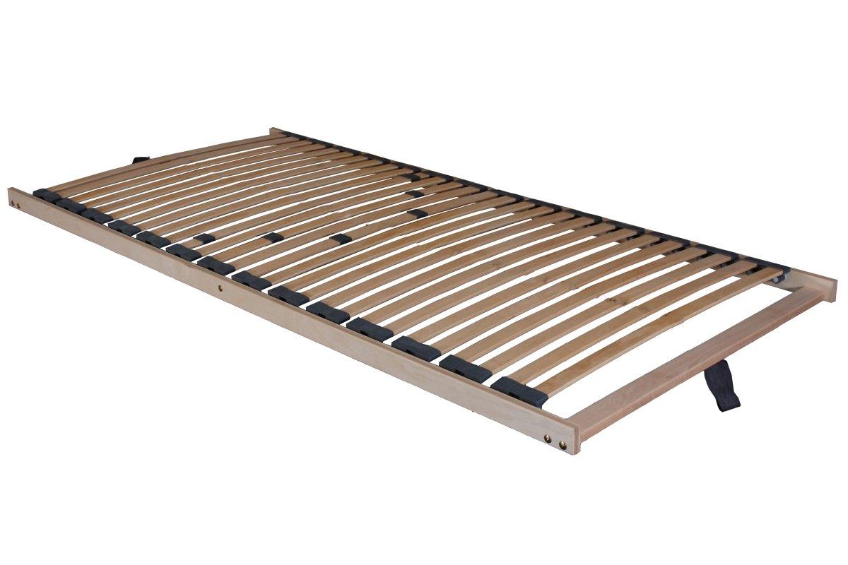 5 Zonen Lattenrost Lattenrost Lattenrost Lattenrahmen Comfort besonders niedrig nur 5 cm Höhe 28 Federholzleisten FERTIG MONTIERT günstig (90x200 cm) f796db