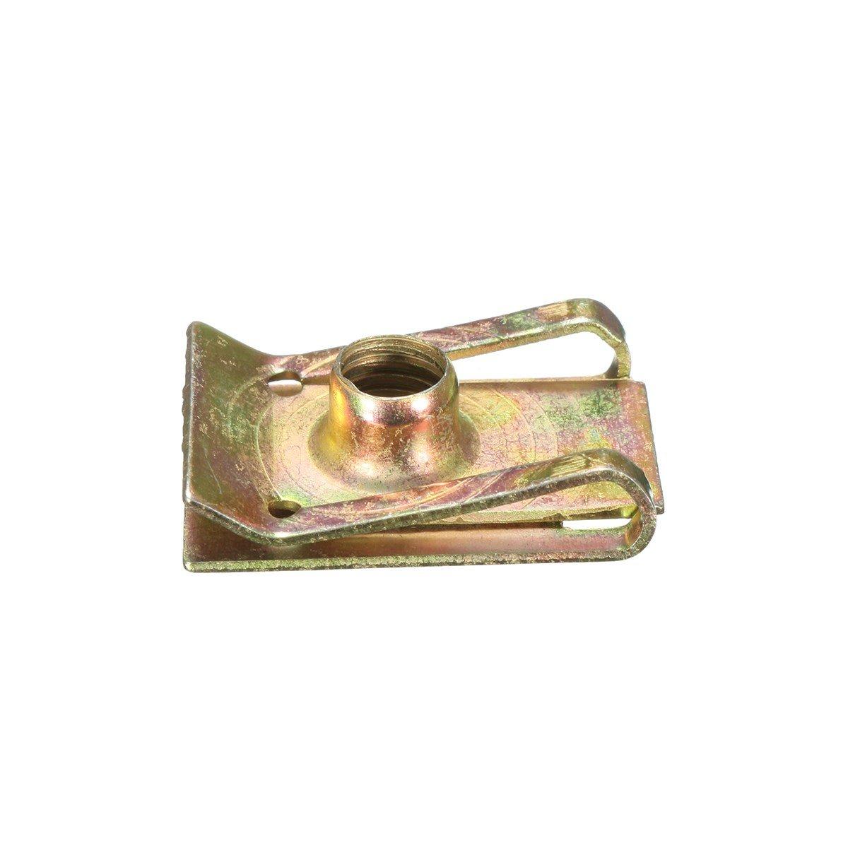Oneuda 50pcs M6 6mm Tread Panel Spire Nut Fairing Clip Fastener Speed Zinc Mounting Clamp