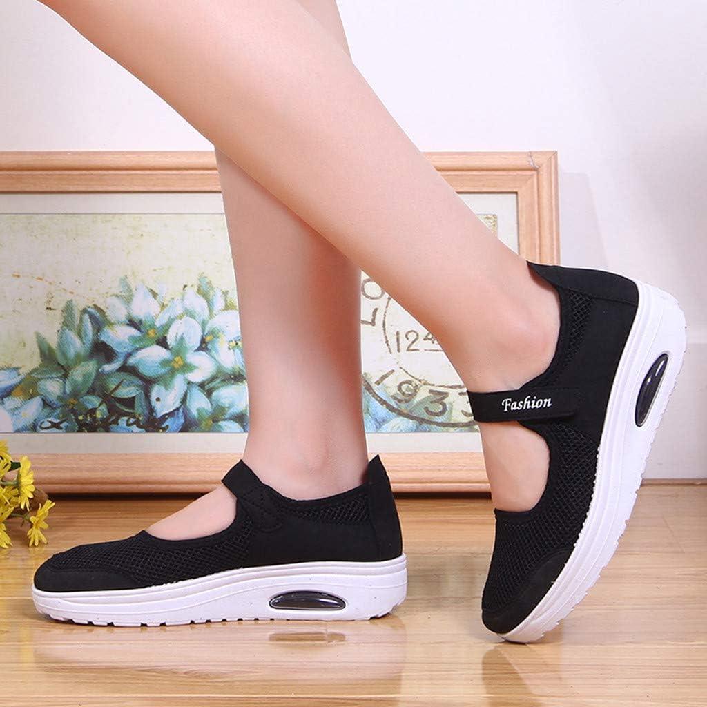 HLIYY Femmes Mode Casual Respirant Léger Plate-Forme Chaussures Sport Chaussures de Course Chaussures de Formateurs Route Athlétique Sneakers pour Marche Gym Sport … Noira
