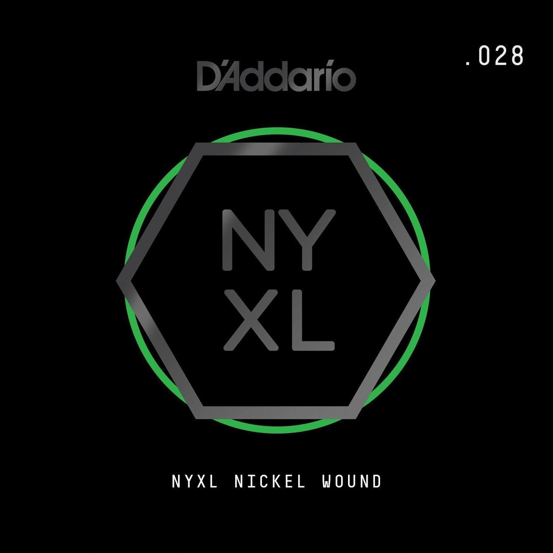 D'Addario NYXL Nickel Wound - Cuerda individual para guitarra eléctrica.028