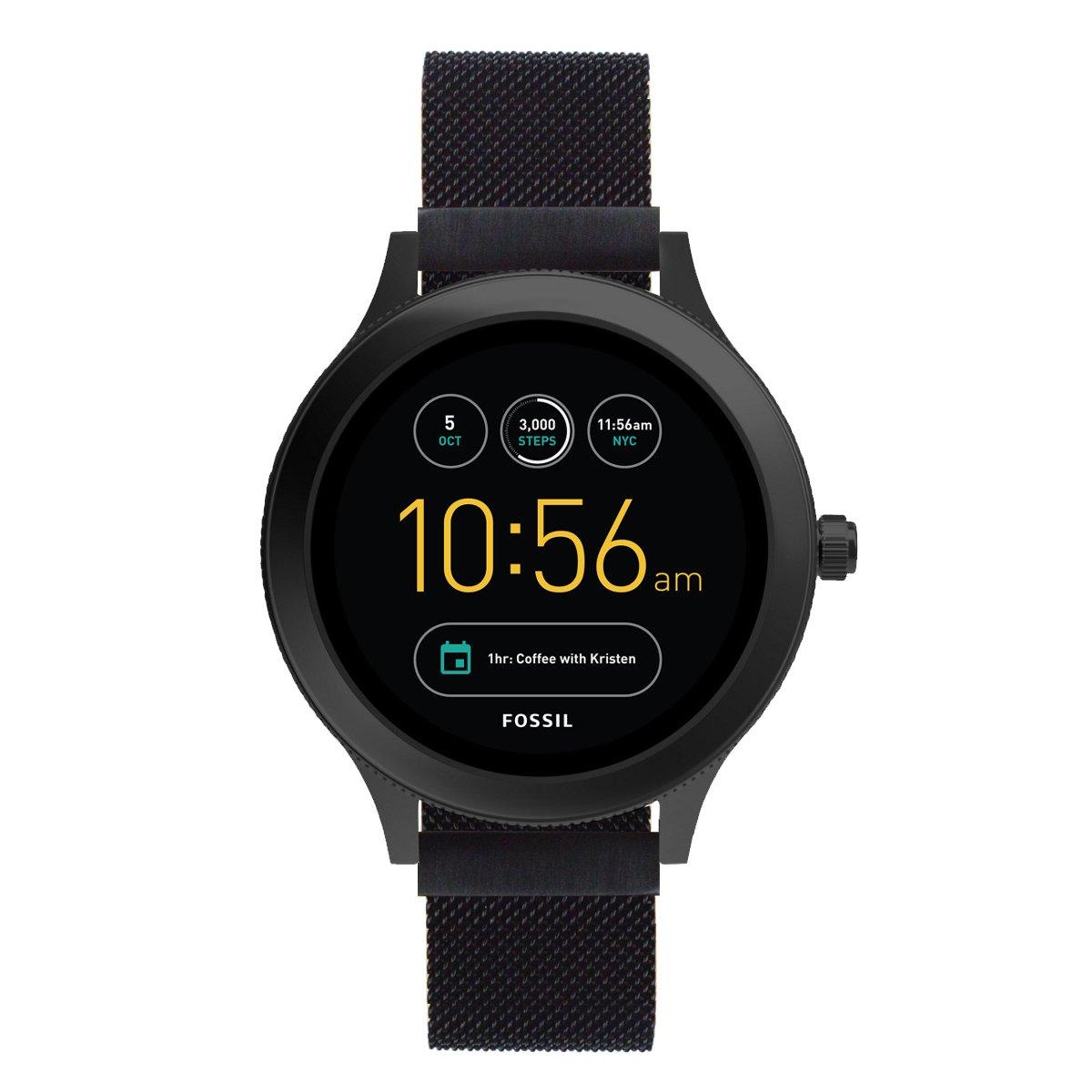 Kartice Compatible with Fossil Venture HR Gen 4 Bands Womens Gen 4 Sport 18mm Replacement Strap for Fossil Gen 3 Q Venture Smartwatch (Black)