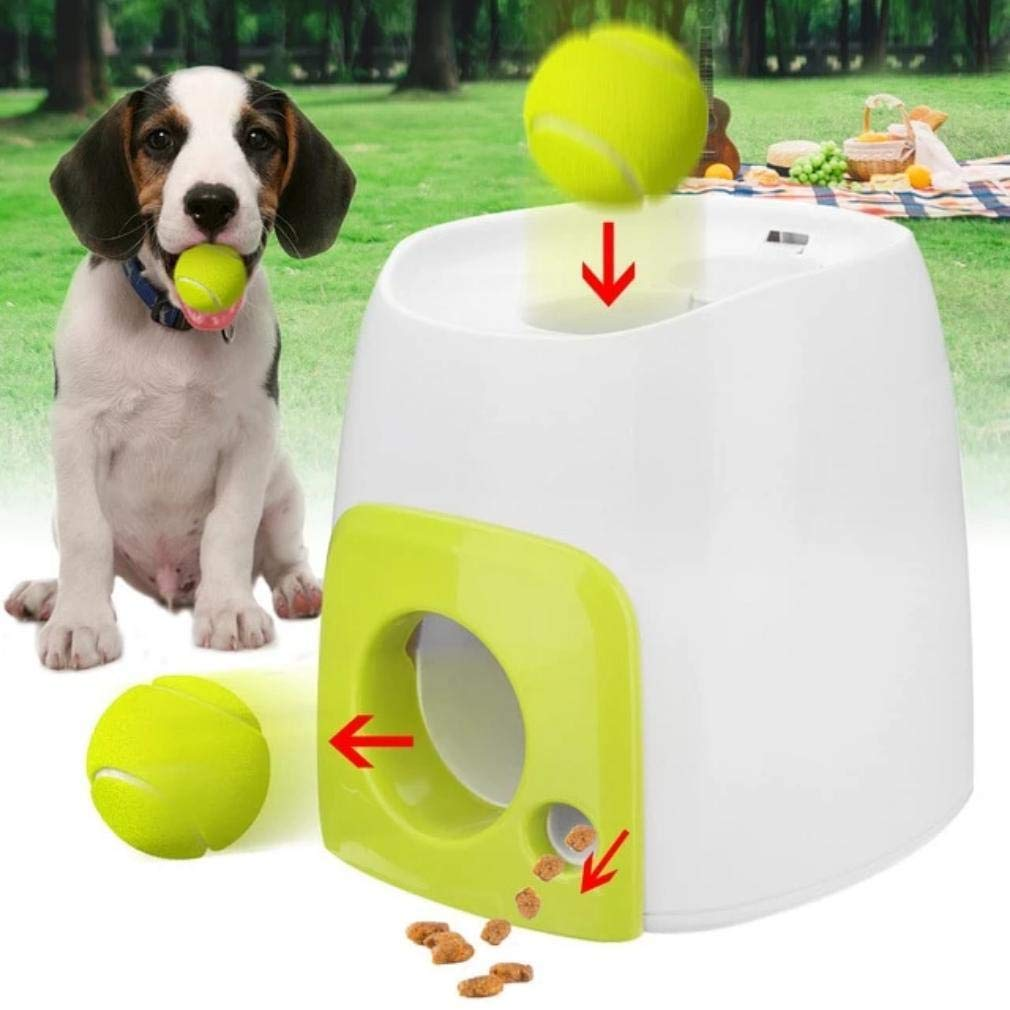 Dog Toy Automatic Interactive Launcher Tennis Ball Throwing Machine by Trending Travis