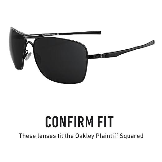 5064cc3f41 Revant Polarized Replacement Lenses for Oakley Plaintiff SquaredBlack  Chrome MirrorShield®  Amazon.co.uk  Clothing