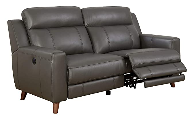 Amazon.com: Benzara BM182911 Leatherette Power Recliner Sofa ...