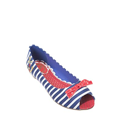 Banned , Peep-Toe femme - - Red, White & Blue, 35.5