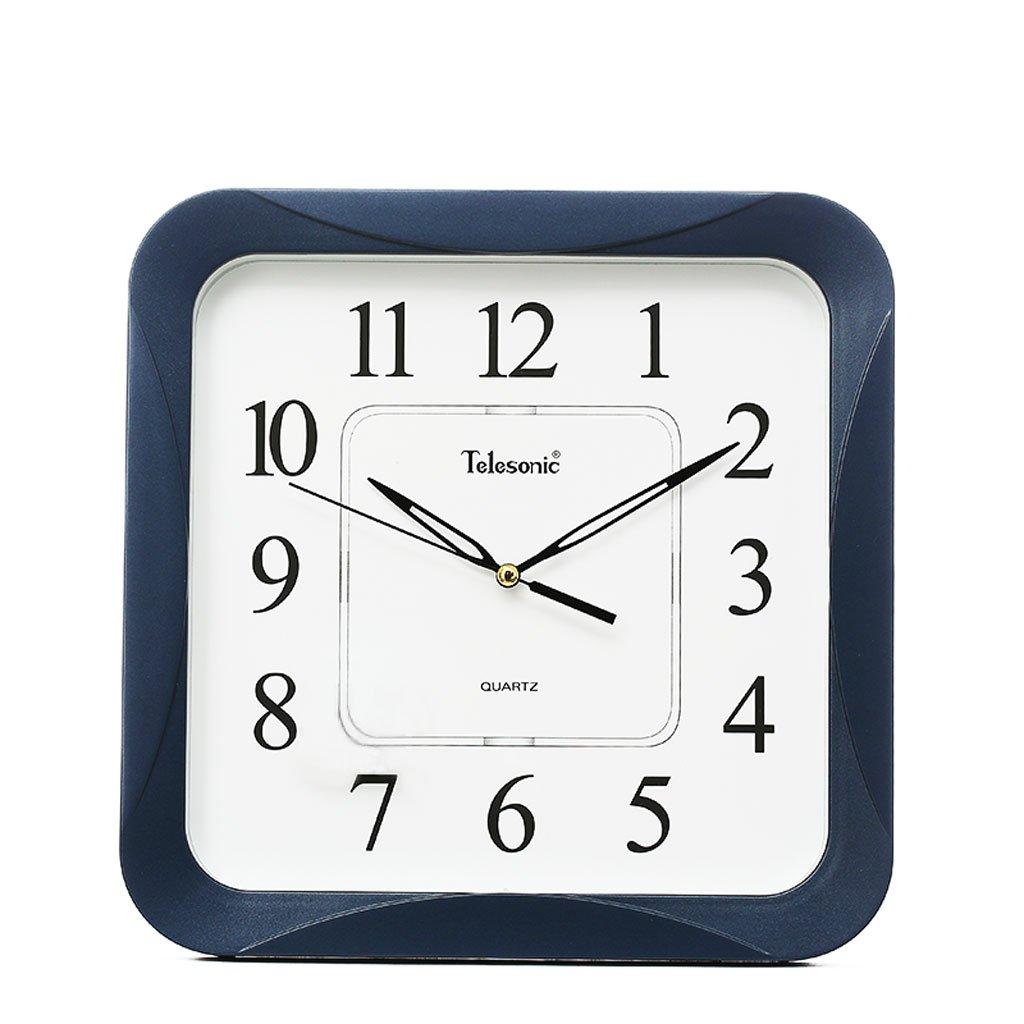 現代的なシンプルな広場のリビングルーム静かな壁時計 (色 : A0018-3 Blue) B07DQC58BC A0018-3 Blue A0018-3 Blue