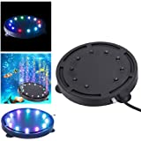 Yakamoz 9 LEDs Lapme Aquarium Air Bulle Étanche Lumière Colorée à Bulle d'Air Subemersible Lampe de Décoration Pour Aquarium Air Bubble Lamp 10.5cm