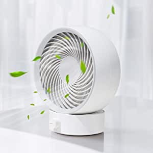 SmartDevil 2020 New USB Desk Fan, Small Personal Desktop Table Fan with Strong Wind, Quiet Operation Portable Mini Fan for Home Office Bedroom Table and Desktop (White)