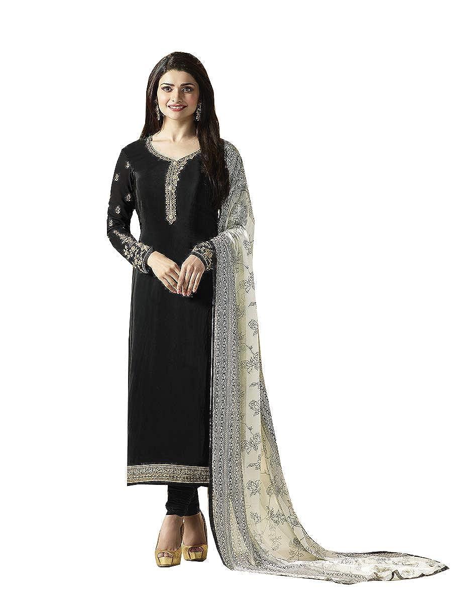 Black STELLACOUTURE Indian Wear & Ethnic Wear Straight Fancy Salwar Kameez for Women P10
