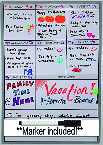 Dry Erase Calendar Week - 8