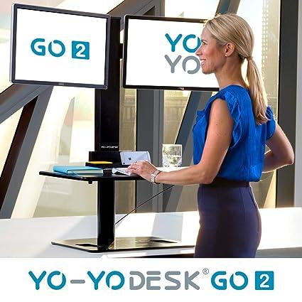 Yo-Yo DESK GO 2   Mesa de pie de altura ajustable con monitor de ...