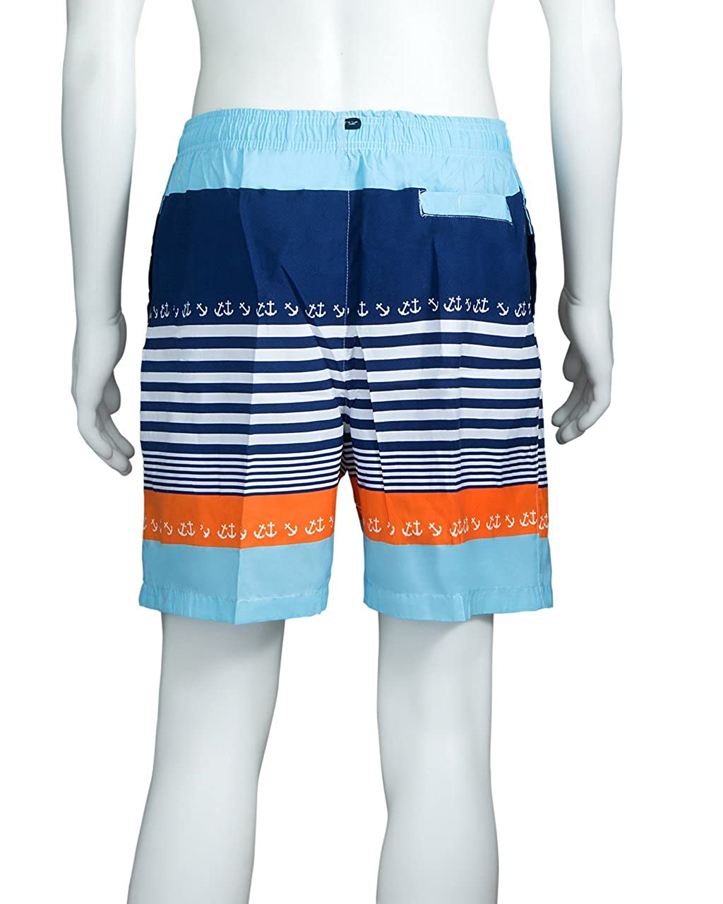Swim Trunk Mens Boys Kids Swimwear Mesh Lining Adjustable Strap Elastic Waist