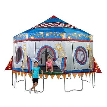 Bazoongi Jump King Rocket Tr&oline Tent  sc 1 st  Amazon.com & Amazon.com : Bazoongi Jump King Rocket Trampoline Tent : Sports ...