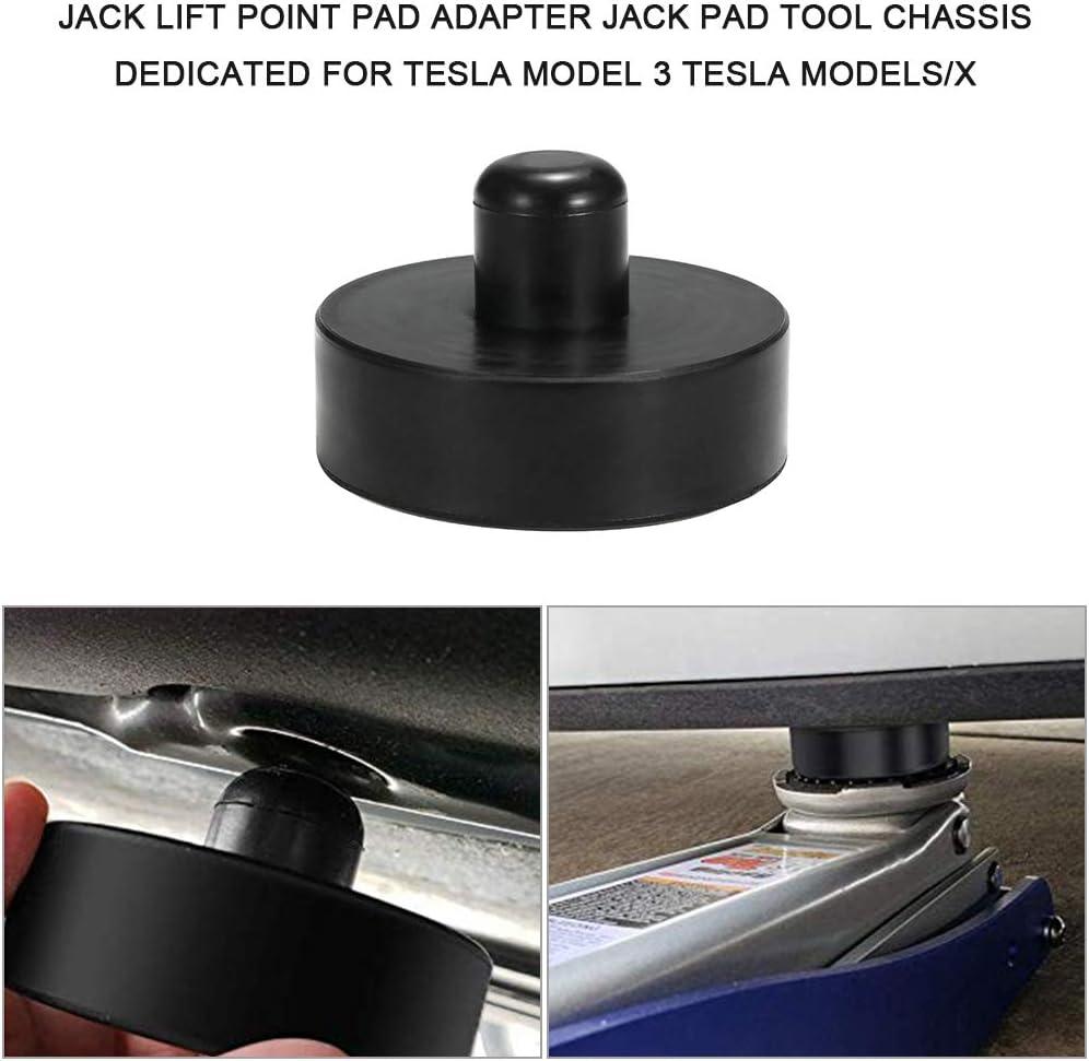 Fesjoy Adaptateur de point de levage Jack Ch/âssis doutil de jack pad d/édi/é pour Tesla mod/èle 3 Tesla ModelS//X Jack Pad-Werkzeug