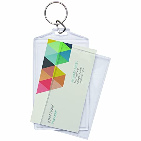 Amazon acrylic photo snap in business card size key chain 25 amazon acrylic photo snap in business card size key chain 25 pack colourmoves