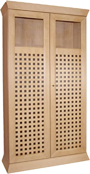 Un escaparate de pie Vitrina Vitrina 2 Puertas Quadro Nuevo Mediados, 2 Puertas de Cristal de Madera, Pino de Caramelo Macizo de Alta: Amazon.es: Hogar