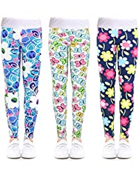 302341b71 3-Pack Printing Flower Girl Leggings Kids Classic Pants 4-13Y