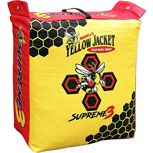 Morrell Yellow Jacket Supreme 3 Field Point Bag Archery Target (Best Archery Block Target)