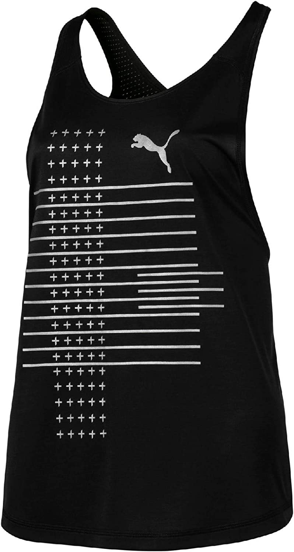 PUMA Ahead Slogan - Camiseta de Tirantes para Mujer, Color Negro