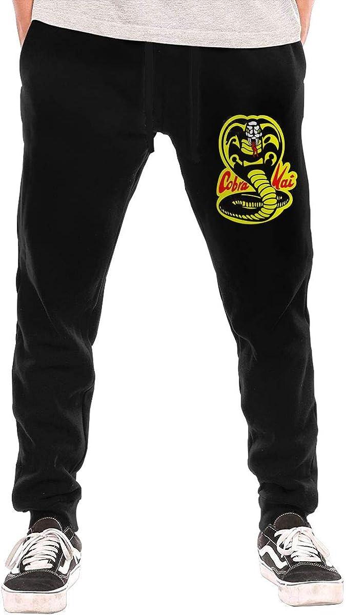 Cobra Kai Mens Casual Jogger Drawstring Waist Long Sweatpants with Pockets