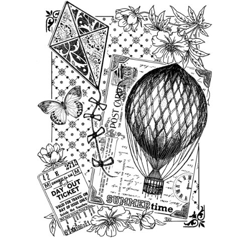 hot air balloon stamp - 4