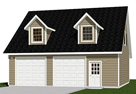 Garage Plans: Two Car Garage With Loft Apartment - Plan 1476-4