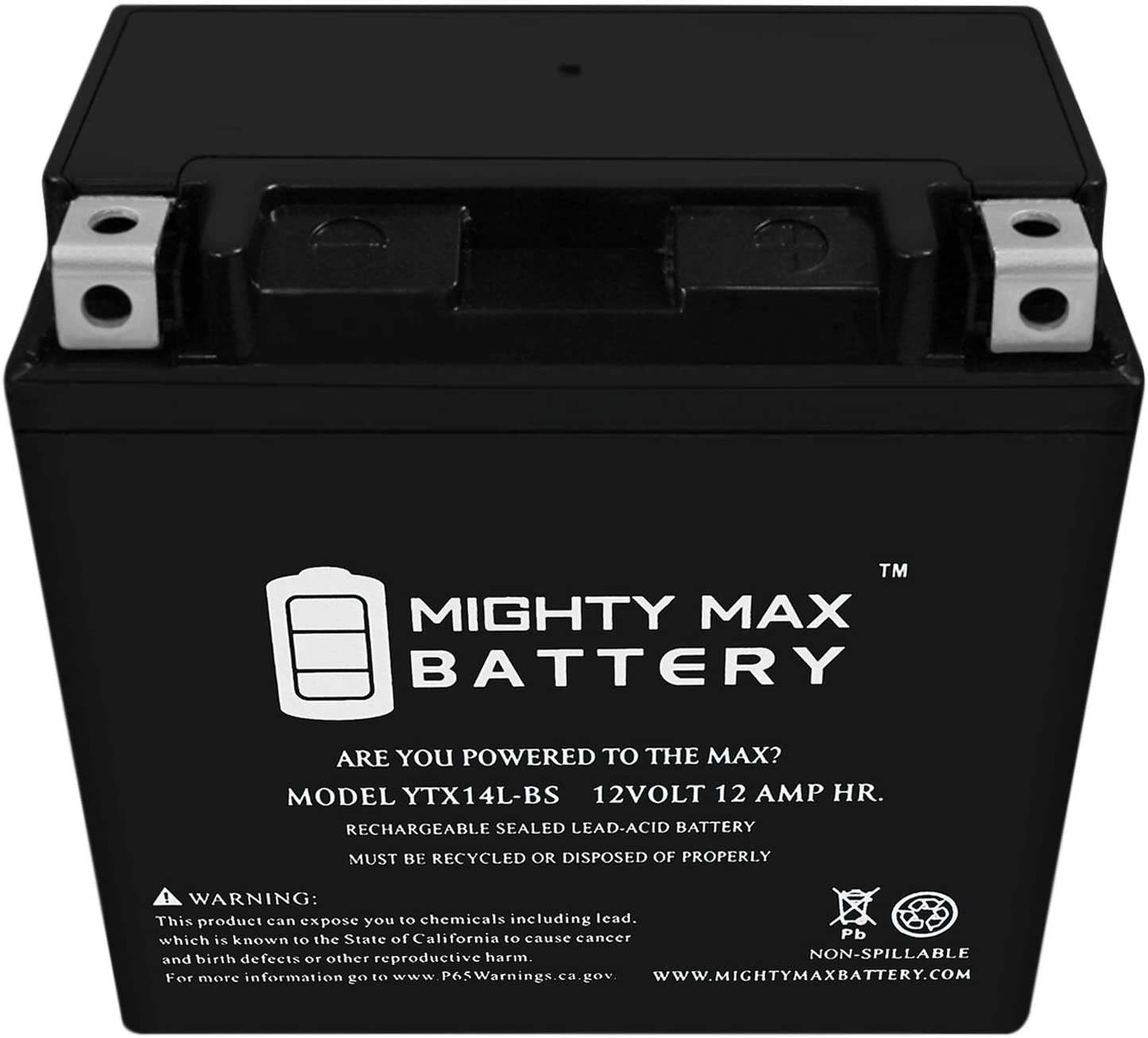 12V 2Amp Chargr Mighty Max YTZ10S GEL Battery Replaces Kawasaki Z650 ABS 17-19