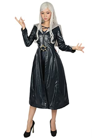 Halloween Frost Costumes Women Fancy Outfit Suit PU leather Trench Coat Jacket with Dress for Adult  sc 1 st  Amazon UK & Halloween Frost Costumes Women Fancy Outfit Suit PU leather Trench ...