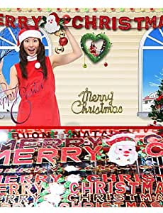 VIVI anchura Cruz smsbm letras de Navidad decoración Navidad