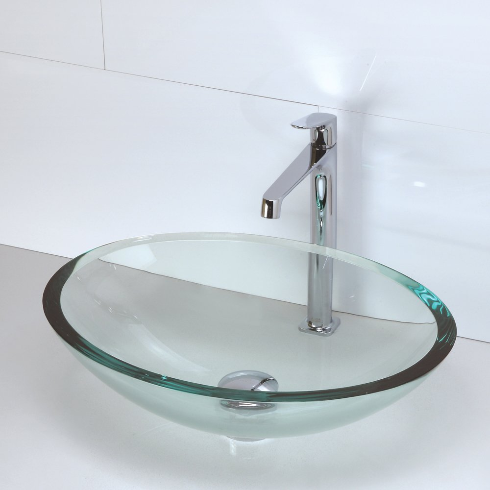Exceptionnel Decolav 1129T TNG Translucence Oval Tempered Glass Vessel Sink, Transparent  Natural Glass     Amazon.com
