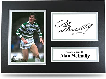 Alan McInally Signed A4 Photo Celtic Genuine Autograph Display Memorabilia COA