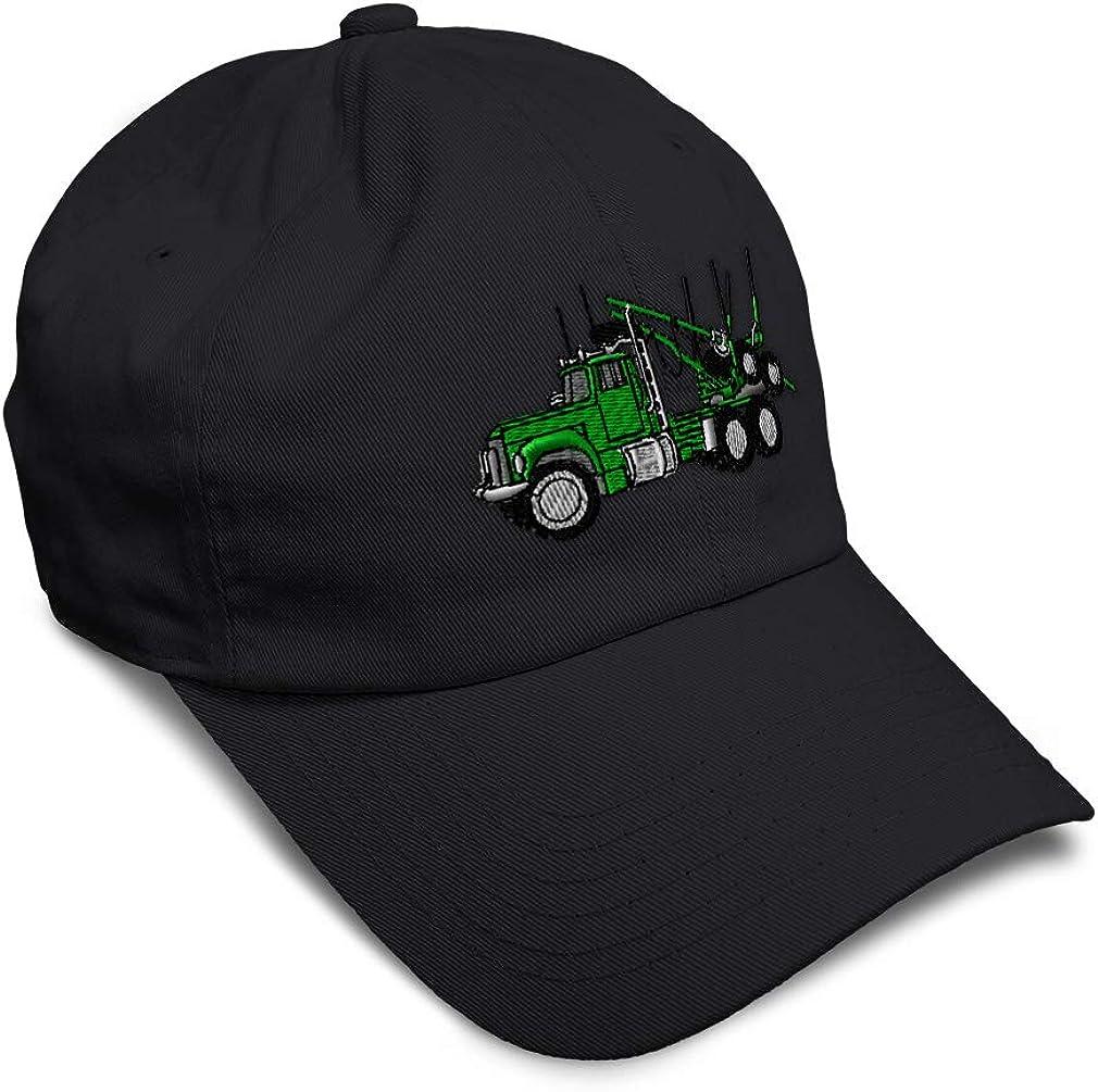 Custom Soft Baseball Cap Logging Truck Green Embroidery Dad Hats for Men /& Women