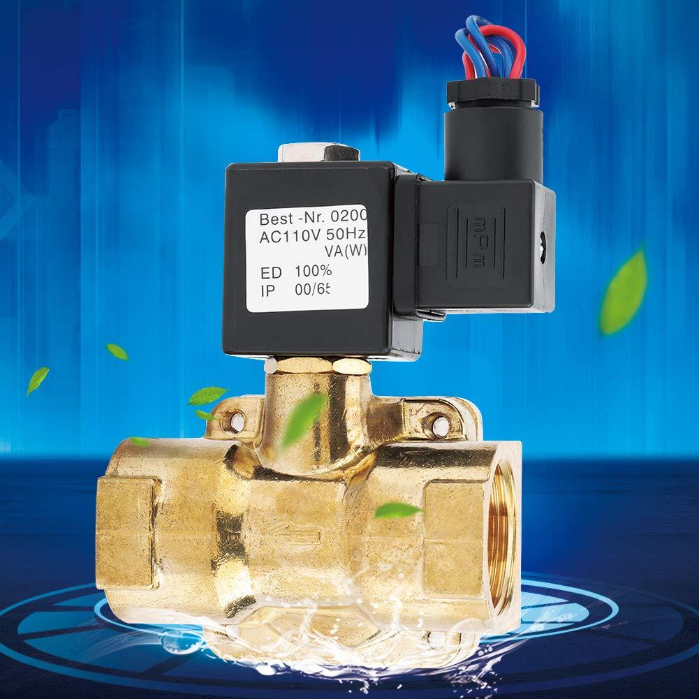 Electric Solenoid Valve 12VDC//24VDC//110VAC//220VDC G1 1.6MPA 2 Way N//C Diaphragm Water Diaphragm Valve Solenoid Air Valve AC110V Easy to Assemble