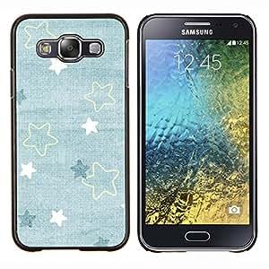 - baby blue cute wallpaper pattern - - Modelo de la piel protectora de la cubierta del caso FOR Samsung Galaxy E5 E500 RetroCandy
