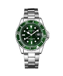 Ananke Top Brand Luxury Mens Relojes Casual Relojes de Cuarzo Hombres Acero Inoxidable Impermeable Moda Exquisita Mano de Obra