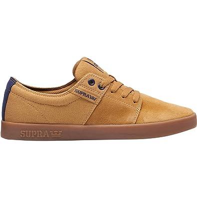Supra Men's Stacks II '18 Shoes,Size 8.5,Tan/Navy-Gum