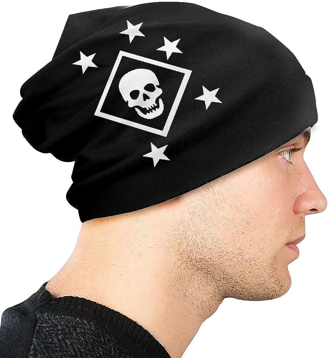 Black and White MARSOC Marine Raiders Skull and Stars Unisex Warm Hat Knit Hat Skull Cap Beanies Cap