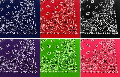 Assorted Military Giant Army Trainmen Paisley Bandanas